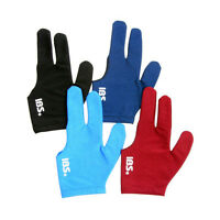 4Pcs IBS Billiards Three Fingers Glove Professional 4Colors Spandex Snooker Pool