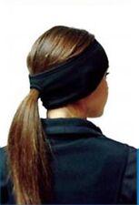Fleece Ponytail Ear Warmer Headband New BLACK