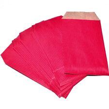 Lot de 10 sachets pochettes cadeaux papier kraft rouge 7X12cm pour bijoux