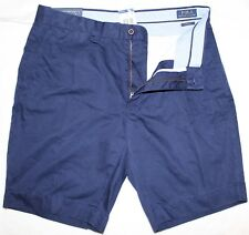 Polo Ralph Lauren Mens Navy Blue Classic Fit Flat-Front Shorts NWT Waist 42