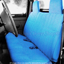 A23 12mm Triple Stitched Thick Small Pickup Truck BLUE Solid Bench Seat Cover