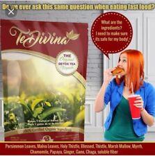 TE DIVINA DETOX TEA 100% di ingredienti organici naturali Autentico perdita di peso formula