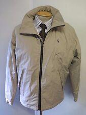 "POLO Ralph Lauren Zipped Pile Lined Short Jacket S 36-38"" Euro 46-48 - Stone"