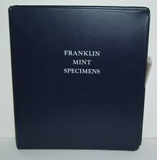 The Franklin Mint Specimens Blue Vinyl Notebook with Plastic Sleeve Inserts