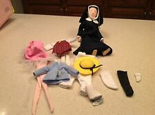 """Ms. Miss Clavel Nun Doll Madeline Eden 10"""" Collectible Doll & Clothes Lot Nice"""