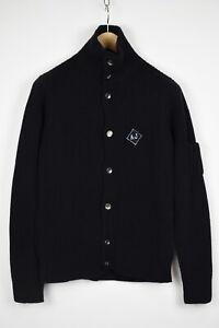 ARMANI JEANS Men's MEDIUM Wool Blend Elastic Ribbing Cardigan Sweater 33216_GS