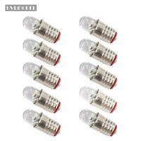 10 pieces Bright White LED Screw Bulb E5 E5.5 12V-14V E505W