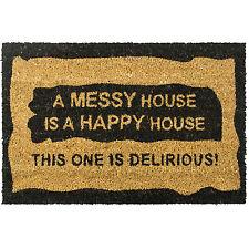 Messy House Large Doormat Outdoor Front Door Non Slip Rubber Bottom Matting New