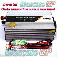 INVERTER AD ONDA SINUSOIDALE PURA 150W PICCO MAX 300W 12V 220V AC PURE SINE WAWE