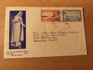 Südsee,TONGA:Bedarfsbrief Missionsschwester VAVAU, VAVA´U n Honululu Hawaii,1955