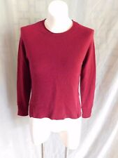 J Brand Solid Burgundy Cashmere Crew Neck Long Sleeve Sweater - Size XS