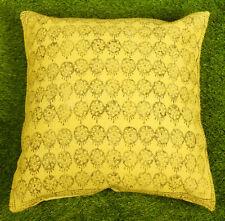 Dari Cushion Cover Handmade Cotton Yellow Floral Throw Home Decor Pillow Cover