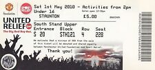 """Ticket - Manchester United XI v """"The Rivals"""" Sports Relief 01.05.2010"""