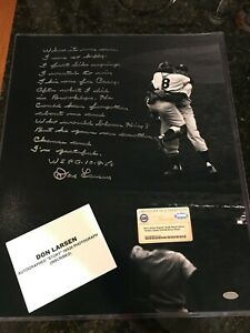 Don Larsen Signed/Autographed 16x20 World Series Perfect Game Story Photo - COA