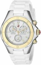 Michele Women's Tahitian Jelly Bean Two Tone White Silicone Watch MWW12F000056