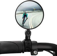 1x MTB Mountain Bike Handle Bar 360 Rotateable Convex Bicycle Rearview Mirror UK