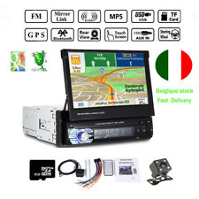 "7"" 1Din Autoradio GPS Navi Touch Screen Bluetooth Stereo MP5 Player EU Map Card"