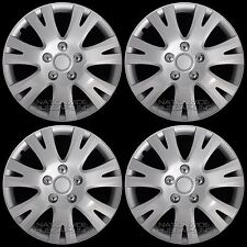 "16"" Set of 4 Wheel Covers Full Rim Snap On Hub Caps fits R16 Tire & Steel Wheels"