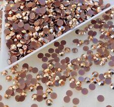 1500pcs Jelly BRONZE Crystal SS12 (3mm) Flatback Rhinestones DIY Nail Art 11.5g