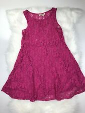Free People XS Pink Sleeveless Sheer Lace Dress
