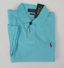 Ralph Lauren Mens Classic Fit Mesh Short Sleeve Button up Shirt Hammblue L
