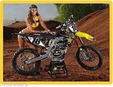 Sexy Rockstar  Motorcycle Motorcross Girl  Refrigerator / Tool Box Magnet