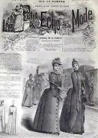 ANCIENNE REVUE LE PETIT ECHO DE LA MODE DE 1889 AVEC GRAVURES RARE N°22