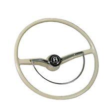Stock VW Steering Wheel, Ivory, Bug, Karmann Ghia and Type 3 1962-1971