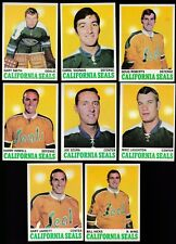 1970 Topps Team SET Lot of 8 California GOLDEN SEALS NEAR MINT VADNAIS HOWELL