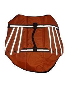 Orange Life Preserver Jacket X-large Dogs 65 - 95 Lbs Water Safety Vest, NIP