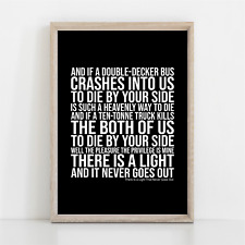 More details for the smiths there is a light that never goes out song lyrics poster print art