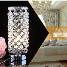 Crystal Glass Table Lamp Bedside Desk Light Modern Shade Lighting Bedroom Home