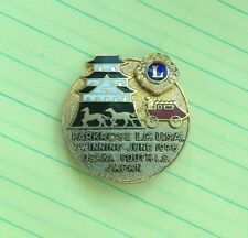 Vintage Lions International Enamel Pin - Parkrose Oregon Osaka Japan 1976