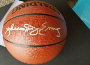 Julius Erving Autographed Spalding NBA Basketball - Steiner AUTHENTICATED!