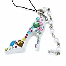 Holder Women Bag Charming Rhinestone Crystal High Heel Shoe Key Ring Key Chain