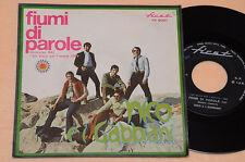 "NICO E I GABBIANI 7"" 45 FIUMI DI PAROLE 1°ST ITALY BEAT 1969 EX"