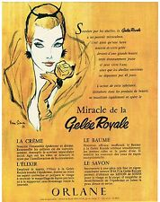 PUBLICITE ADVERSTISING  1960   ORLANE   cosmétiques  GELEE ROYALE