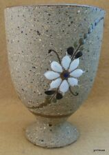 "Tolana Mexico Hand Made Pottery Stemmed Juice Tumbler 4"""