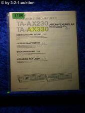 Sony Bedienungsanleitung TA AX230 / AX330 Stereo Amplifier  (#1106)