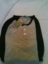 Alternative Apparel 1989 Unisex Eco Jersey 3/4 Sleeve Raglan Henley Sport Shirt
