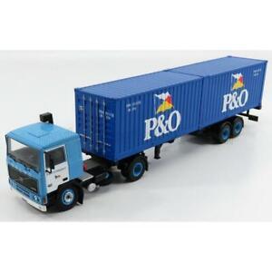 Ixo Models Volvo F10 Truck Trasporto Container P&O 1983 2 Tone Blue 1:43