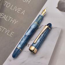 Kaigelu 356 Blue Resin Fountain Pen Iridum EF/F/M Nib Golden Clip Office Ink Pen