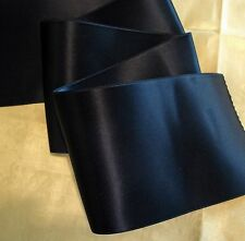 "2-3/4"" WIDE SWISS DOUBLE FACE SATIN RIBBON - NAVY BLUE"