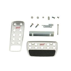 OEM 2010-2018 Subaru A/T Metal Pedal Pad Kit Impreza WRX STi Legacy C8110FG000