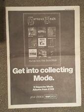 Depech Mode 1993 press advert Full page 27 x 38 cm mini poster