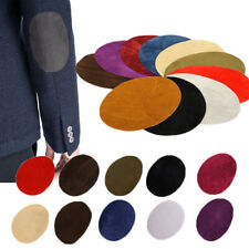 2Pcs Suede Leather Iron-on Oval Elbow Knee Patches DIY Repair Sewing Accessories