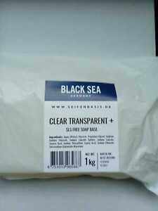 Black Sea Glycerinseife transparent - Rohseife Seifenbasis 1 kg (SLS-frei)