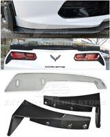For 14-19 Corvette C7 Z06 Stage 3 Side Splitter Winglets & CL Wickerbill Spoiler