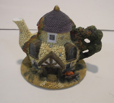 Miniature Village Resin Teapot House