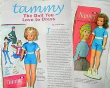 9p History Article + Color Pics -   VTG Ideal's Tammy Fashion Doll Clothes
